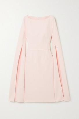 Safiyaa Belted Crepe Dress - Pastel pink
