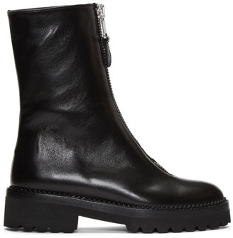 Y's Ys Black Zip Boots