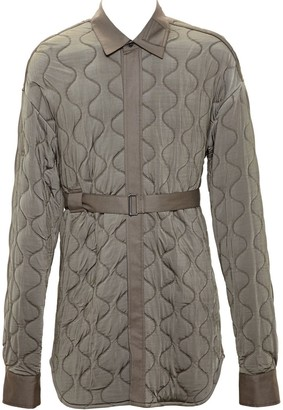 Ann Demeulemeester Long Quilted Jacket