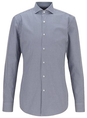 HUGO BOSS Slim-Fit Jason Micro Gingham Dress Shirt