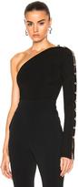 David Koma Loops & Metal Balls One Sleeve Bodysuit in Black.
