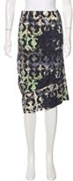 Zero Maria Cornejo Digital Print Knee-Length Skirt