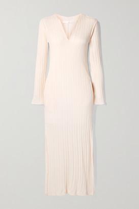 Skin Ruthie Ribbed Pima Cotton Nightdress - Cream