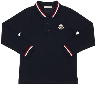 Moncler Cotton Pique L/s Polo Shirt