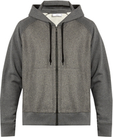 Ami Zip-through wool-panel hooded cotton sweater
