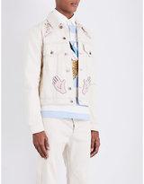 Topman Topman Design Embellished Denim Jacket