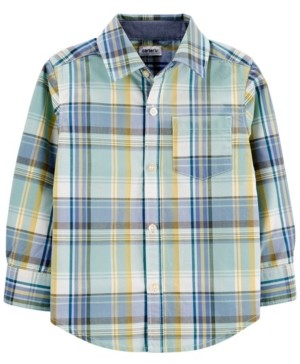 Carter's Toddler Boy Plaid Poplin Button-Front Shirt