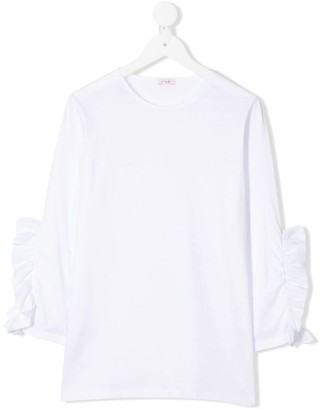 Il Gufo TEEN ruffle sleeve top