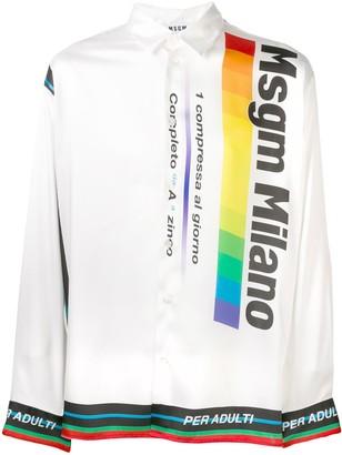MSGM printed long-sleeved shirt