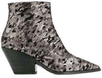 Casadei Galac metallic ankle boots