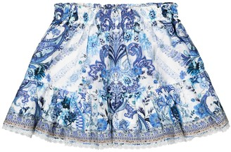 Camilla Kids Embellished cotton skirt