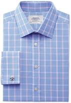 Charles Tyrwhitt Extra slim fit Prince of Wales blue shirt