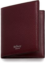 Mulberry Trifold Wallet Oxblood Natural Grain Leather