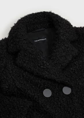 Emporio Armani Double-Breasted, Boucle Coat