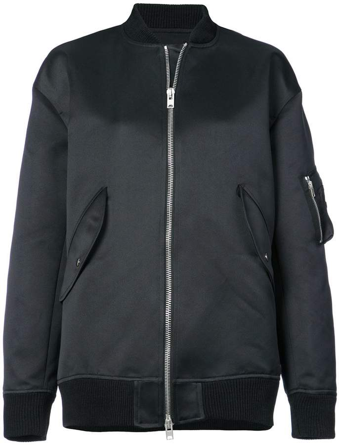 Yang Li back print bomber jacket