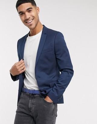 ASOS DESIGN super skinny blazer in teal wool mix