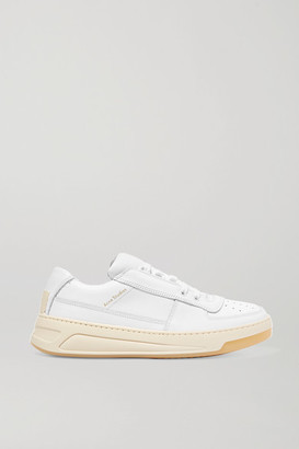 Acne Studios Logo-embossed Leather Sneakers - White