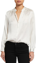 L'Agence Bianca Silk Charmeuse Button-Down Blouse