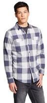 Mossimo Men's Long Sleeve Button-Down Blue Plaid XL