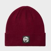 Paul Smith Men's Damson Merino Wool Beanie Hat