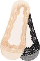 Aldo Women's Lace Women's No Show Liners - 2 Pack