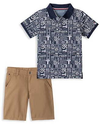 Tommy Hilfiger Little Boy's Two-Piece Polo Shirt Shorts Set
