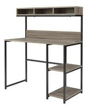 Ashley Furniture Laptop Desk with Hutch in Natural Reclaimed Wood