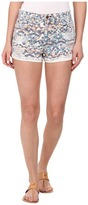 Joe's Jeans Collector's Edition High Rise Rolled Shorts in Stained Mosaic Print