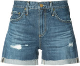 AG Jeans distressed denim shorts - women - Cotton - 24