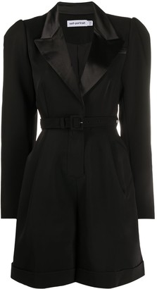 Self-Portrait Belted Waist Blazer Dress