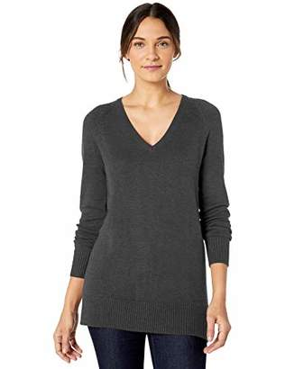 Lark & Ro Women's Long Sleeve Tunic V-Neck Sweater