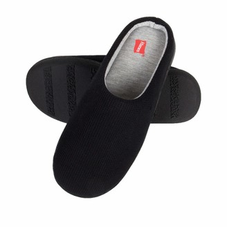 Hanes Womens Soft Waffle Knit Clog Slippers with Indoor/Outdoor Sole Black