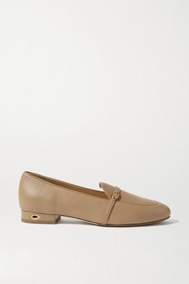 Jennifer Chamandi Fabrizio Leather Loafers - Sand