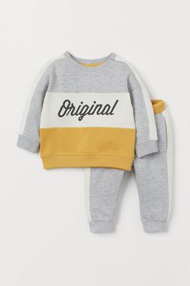 H&M Sweatshirt and Joggers - Gray