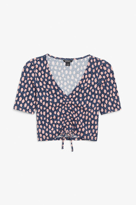 Monki Ruched crop top