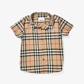 Burberry Fredrick Short Sleeve Pocket Shirt (Infant/Toddler) (Archive Beige) Boy's Clothing