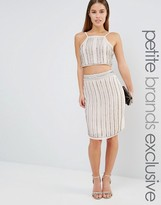 True Decadence Petite Embellished Midi Skirt Co-Ord
