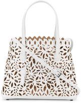 Alaia perforated floral shoulder bag