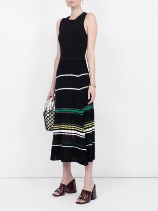 Proenza Schouler striped rib dress black
