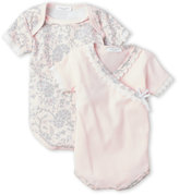 Laura Ashley Newborn Girls) Two-Pack Lace Trim Bodysuits