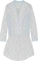 Rebecca Minkoff Hellen silk-embroidered crepe mini dress