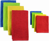 JCPenney Terry Primary Set of 8 Kitchen Towels and Dish Cloths