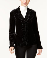 INC International Concepts Ruffled Velvet Jacket, Only at Macy's