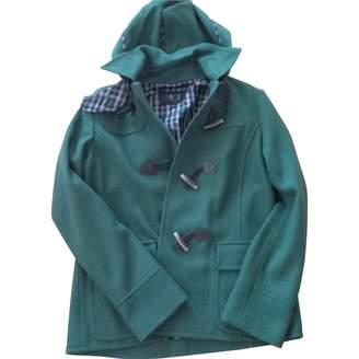Daks London Green Wool Coat for Women