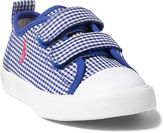 Ralph Lauren Toddler Hamptyn Gingham Ez Sneaker