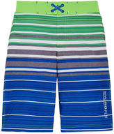 Free Country Boys Stripe Swim Trunks-Big Kid