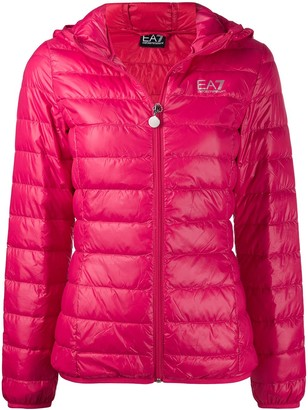 Ea7 Emporio Armani Hooded Padded Jacket