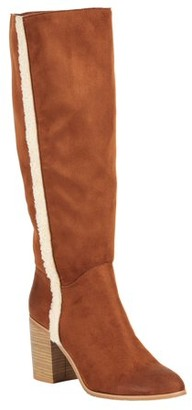 Melrose Ave Vegan Suede Knee High Block Heel Boot (Women's)