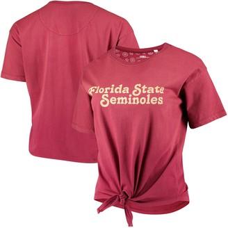 Women's Pressbox Garnet Florida State Seminoles California Dreamin Ombre Tie T-Shirt