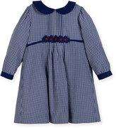 Florence Eiseman Checkered Dress w/ Floral Detail, Size 2-4
